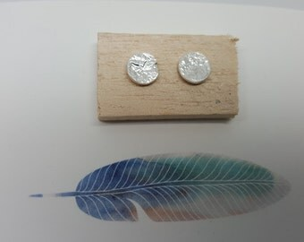 Organic Reticulated Silver Earrings