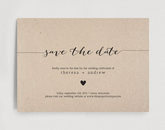 Save The Date Invitation Wedding Rehearsal By