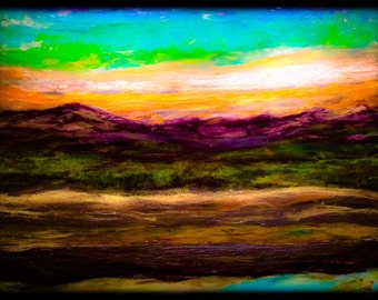 New Abstract Landscape Resin Artwork Resin on Canvas
