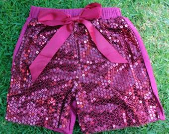 WINE Sequin shorts