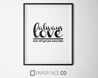 Always Love Print // Nada Surf quote