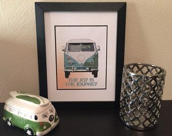 Volkswagen Van Joy In the Journey Print