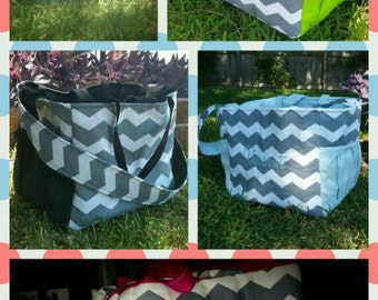 XL Diaper Bag, Extra Large Diaper Bag, Large Diaper Bag, Double Diaper Bag, Chevron Diaper Bag, Custom Diaper Bag, Gray Chevron Diaper bag