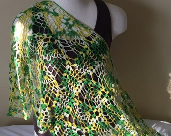 Double Pineapple Shawl