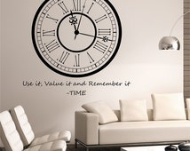Clock Decal Wall Decor - popular items for clock wall decal on ...