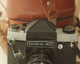 KIEV 6С Vintage Rangefinder Camera,Lens Vega - 125 & Case USSR Soviet ж