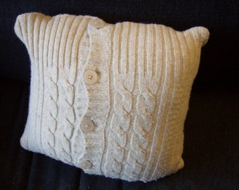 "Oatmeal Sweater Pillow Case - 14""x14"""
