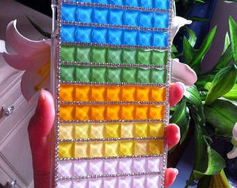 New Luxury Charms Bling Clear Sparkles Colorized Gems Rhinestones Diamonds Crystals Stones Fashion Lovely Hard Cover Case for Mobile Phones