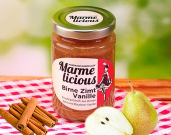PEAR cinnamon vanilla fruit spread