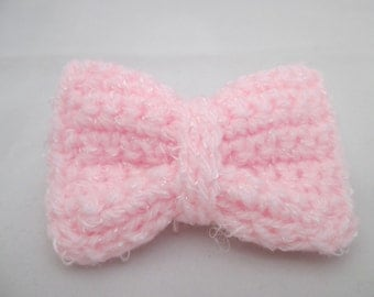 Large crochet hair bow