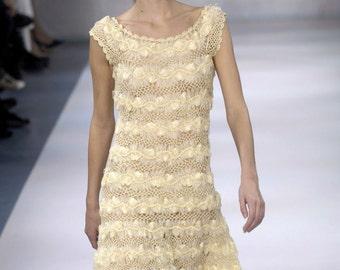 MADE TO ORDER, famous elegant wedding crochet dress, custom made
