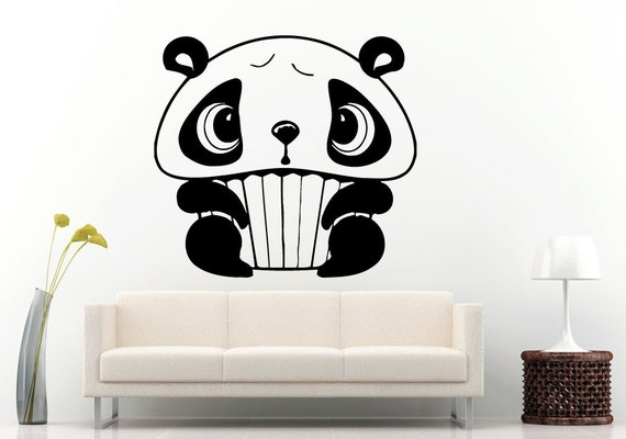 Baby cake cute panda bear animal children 39 s room wall for Panda bear decor