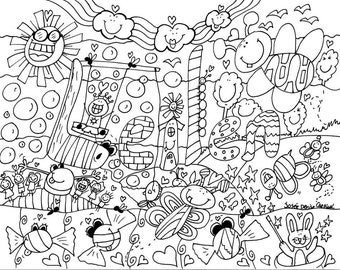 Drawings to color by Josée Denise Cardinal (personolized creations)