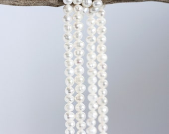 1536_ Pearls 4-5 mm, Small pearls, Round pearls , White beads, Ivory pearls, Natural pearls, Tiny pearls, Little pearls, White pearls