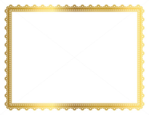 Gold Decorative Frame Page Border Digital Frame Border