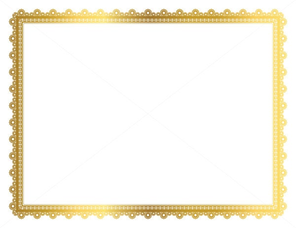 Gold decorative frame page border digital frame border for Certificate frame template