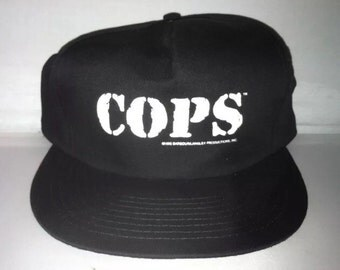 Vintage COPS tv show Snapback hat cap rare 90s bad boys nwot deadstock fox reality spike