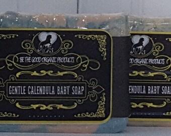 Natural Handmade Calendula Soap -- Gentle Calendula Baby Soap