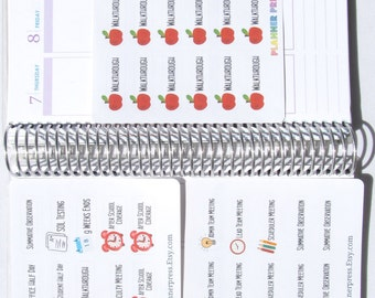 School Administrator Sampler Set Planner Sticker Fits Erin Condren, KikkiK, Filofax Planners and Midori Notebooks 1548