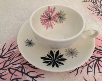 Peter Terris Cup and Saucer Atomic Style Charpinx by Shenango China