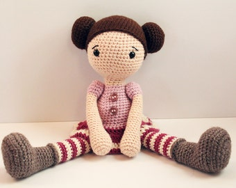 PATTERN : Doll - Crochet pattern - Amigurumi Doll pattern - Stuffed doll - Doll - toy - baby shower