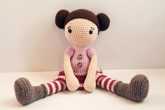 How To Knit Amigurumi Dolls : PATTERN : Doll Crochet pattern Amigurumi Doll pattern