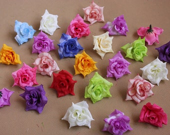 """50 Pcs Rose Heads Artificial Silk Flowers,1.57"""",Hair Accessories Flower Supply,For Wedding Pomander Kissing Ball Table Centerpieces(131-42)"""