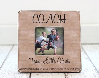 Coach Thank You Gift from Team Soccer Football Baseball Personalized Picture Frame