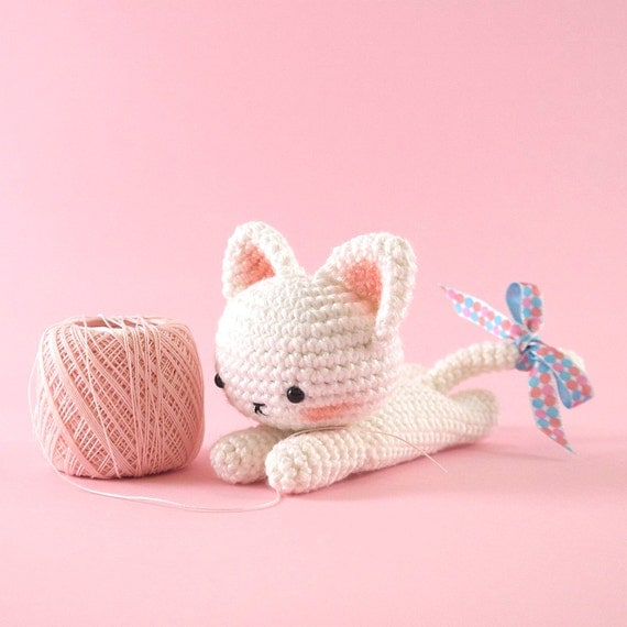 Crochet Patterns English : Amigurumi crochet cat PATTERN ONLY English by BubblesAndBongo