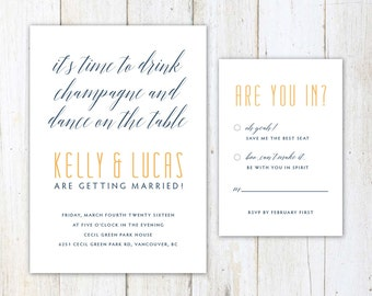 cute wedding invites | etsy, Wedding invitations