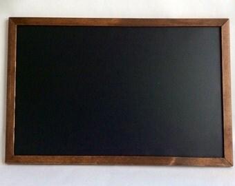 Rustic chalkboard - magnetic chalkboard