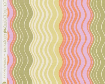 FQ - Amy Butler Midwest Modern2 for Rowan Fabrics - Ripple Stripe in Sand - Quilting Cotton OOP