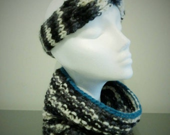 Set of headband and neck warmer.