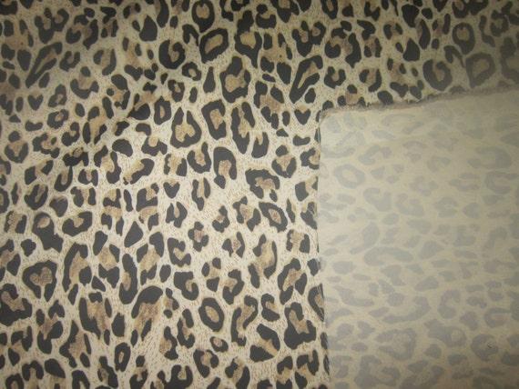 Animal Print Nylon Fabric By The Yard Half Yard By