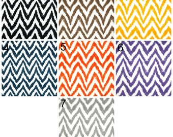 Diva Chevron Accent Throw Pillow Covers, Decorative Pillow Cushions, Any Size, Premier Prints in Black, Brown, Yellow, Orange, Navy, Grey
