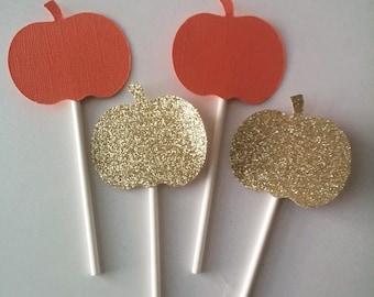 Pumpkin Cupcake Toppers