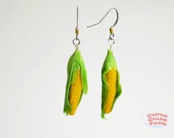 Corn Cob Earrings Miniature Food Jewelry