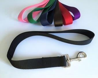 "Dog Leash - Short Leash - Training Leash - Traffic Leash - Traffic Lead - 1"" Wide Training Lead - 7 Colors Available"