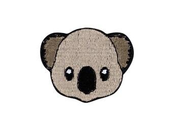 Koala Emoji Embroidered Iron On Patch - FREE SHIPPING
