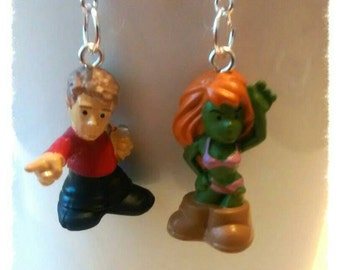 Star trek hand made earrings or i can make 2 charms. Great jewellery or gifts. wedding's  conventions. Cosplay, fancy dress