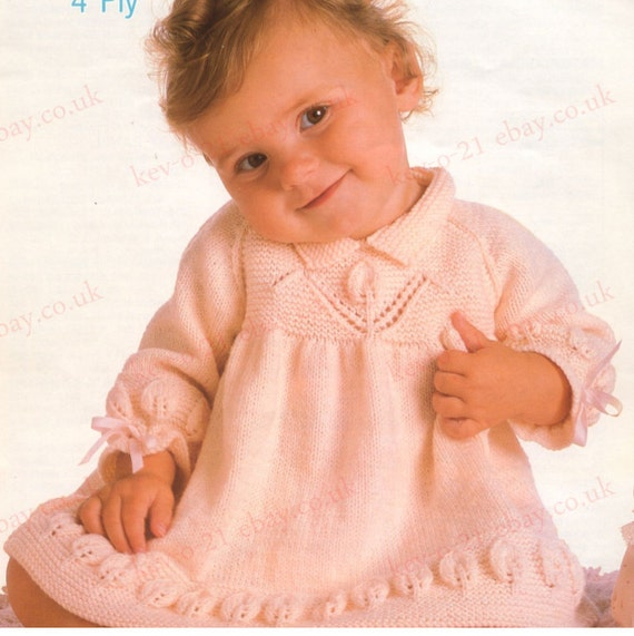 Free Knitting Pattern For Baby Angel Top : Knit Angel Top Vintage Pattern baby dress knitting pullover