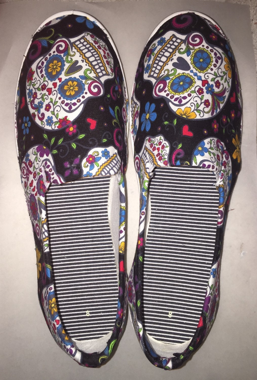 Slip on Sugar Skull Shoes