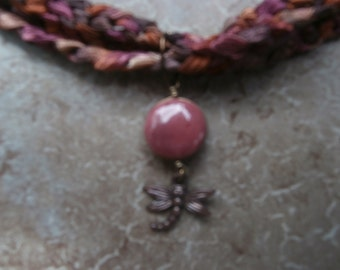necklace with dragonfly