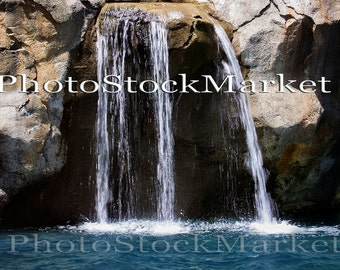 Rock Waterfall Background -  Waterfall Backdrop - Bathing pool backdrop -  Photoshop - Photography Backdrop - Water Fall