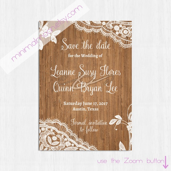 Save the date lace templates wwwimgkidcom the image kid has it for Rustic save the date templates free