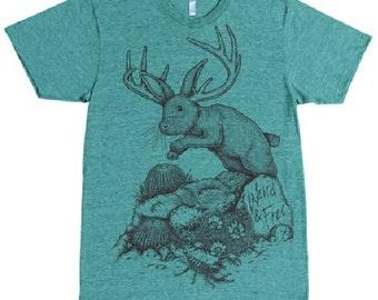 Jackalope  shirt tee shirt tri blend heathered super soft weird rabbit bunny desert