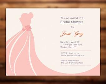 Bridal Shower Invitation Template  Instant Download