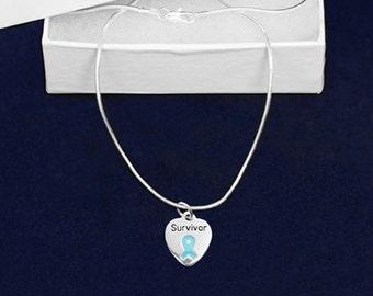 Uterine Cancer Awareness Survivor Necklace