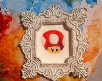 Mario One Up Mini Painting