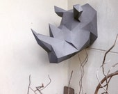 Lowpoly Rhino Papercraft DIY model